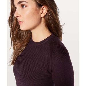 Lululemon Simply Wool Sweater Black Cherry